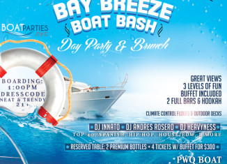 Bay Breeze Boat Bash, day party with brunch