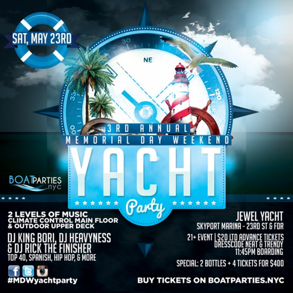 3rd Annual Memorial Day Weekend Boat Party