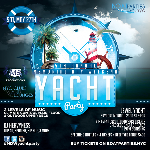 Memorial Day Weekend Yacht Party