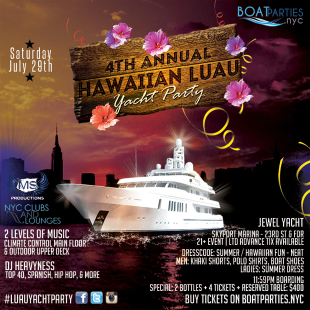 Hawaiian Luau Boat Party