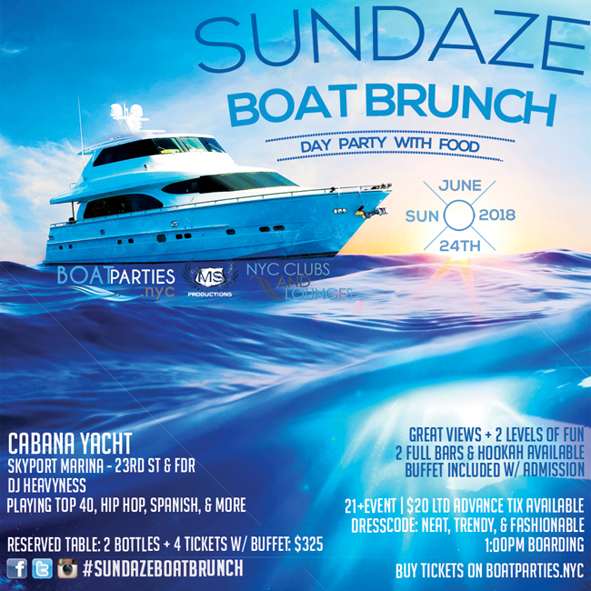 Sundaze Boat Brunch, NYC Day Party