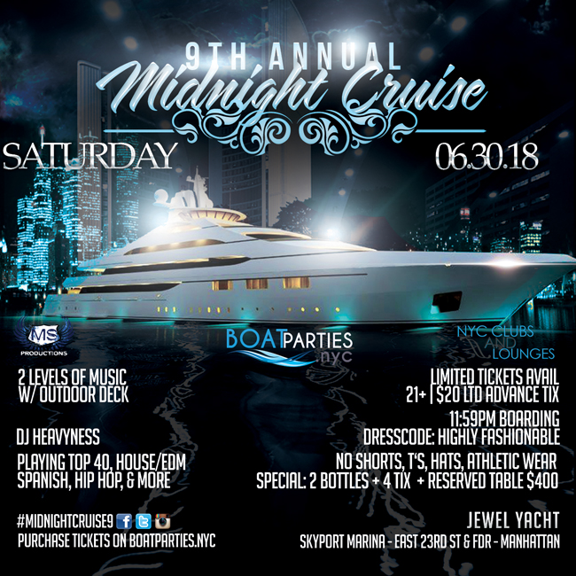 June Midnight Cruise, NYC Boat Party