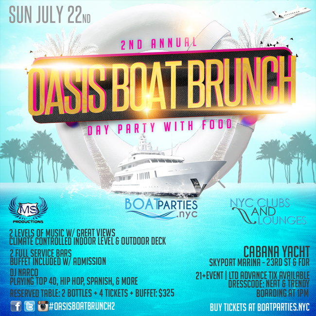 Oasis Boat Brunch - Day Party