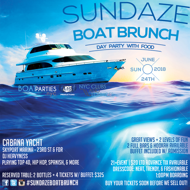 NYC Boat Party w Brunch